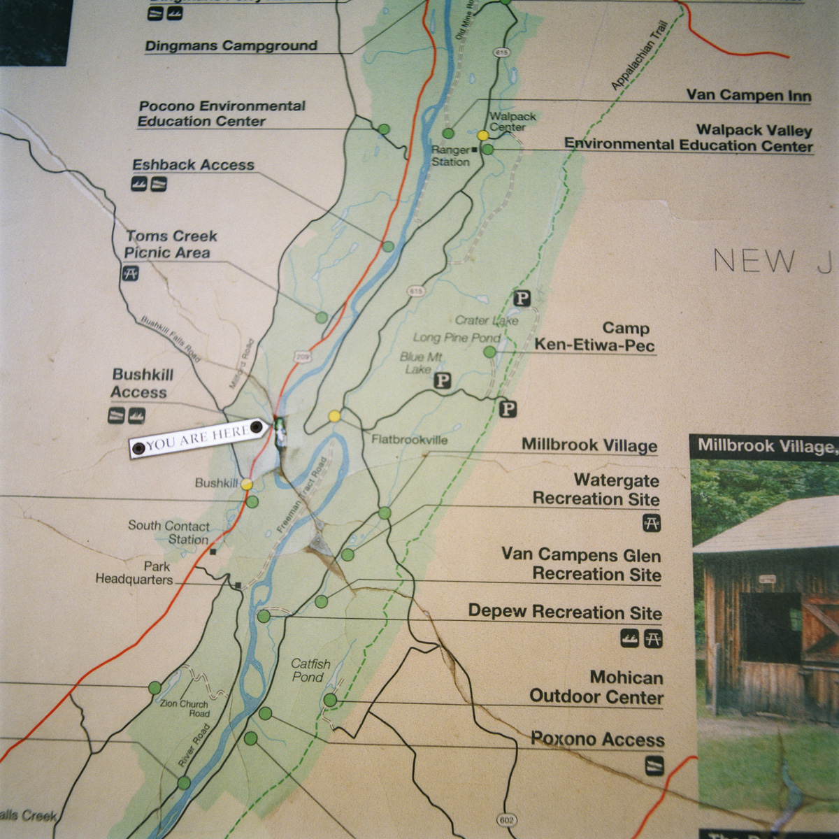 Park Map, Delaware Water Gap National Recreation Area, PA
