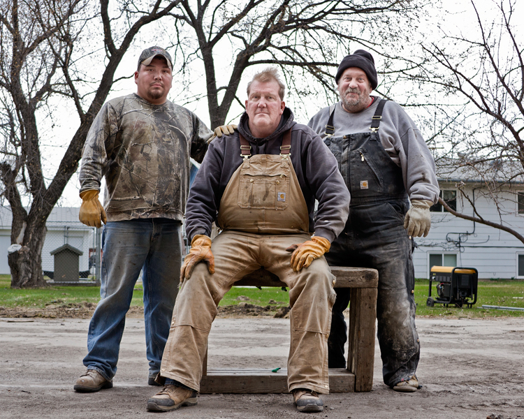 Laris, Russ, & Mike, House-movers, 2012