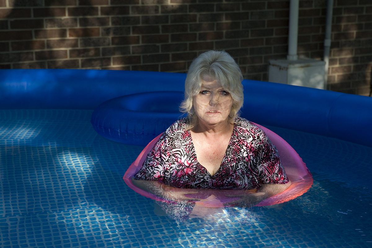 Mom Cooling Off in the Pool, 2012