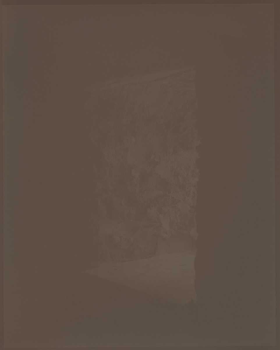 Stone window in a cold building, cold Ireland 2012 8 x 10 Disappearing Photograph on Gelatin Silver Paper, First Exposure