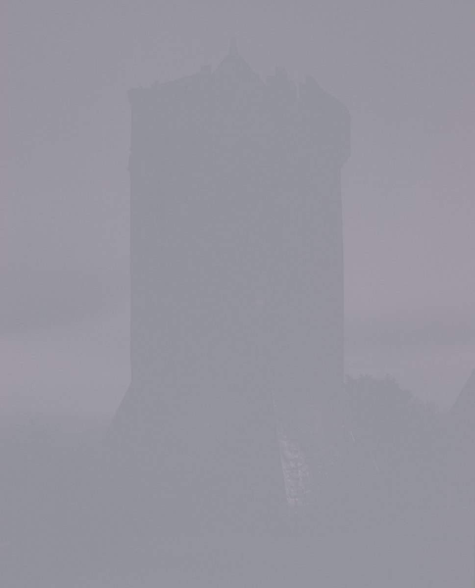16th century tower at night, my Ireland, 2012 8 x 10 Disappearing Photograph on Gelatin Silver Paper, Four weeks later