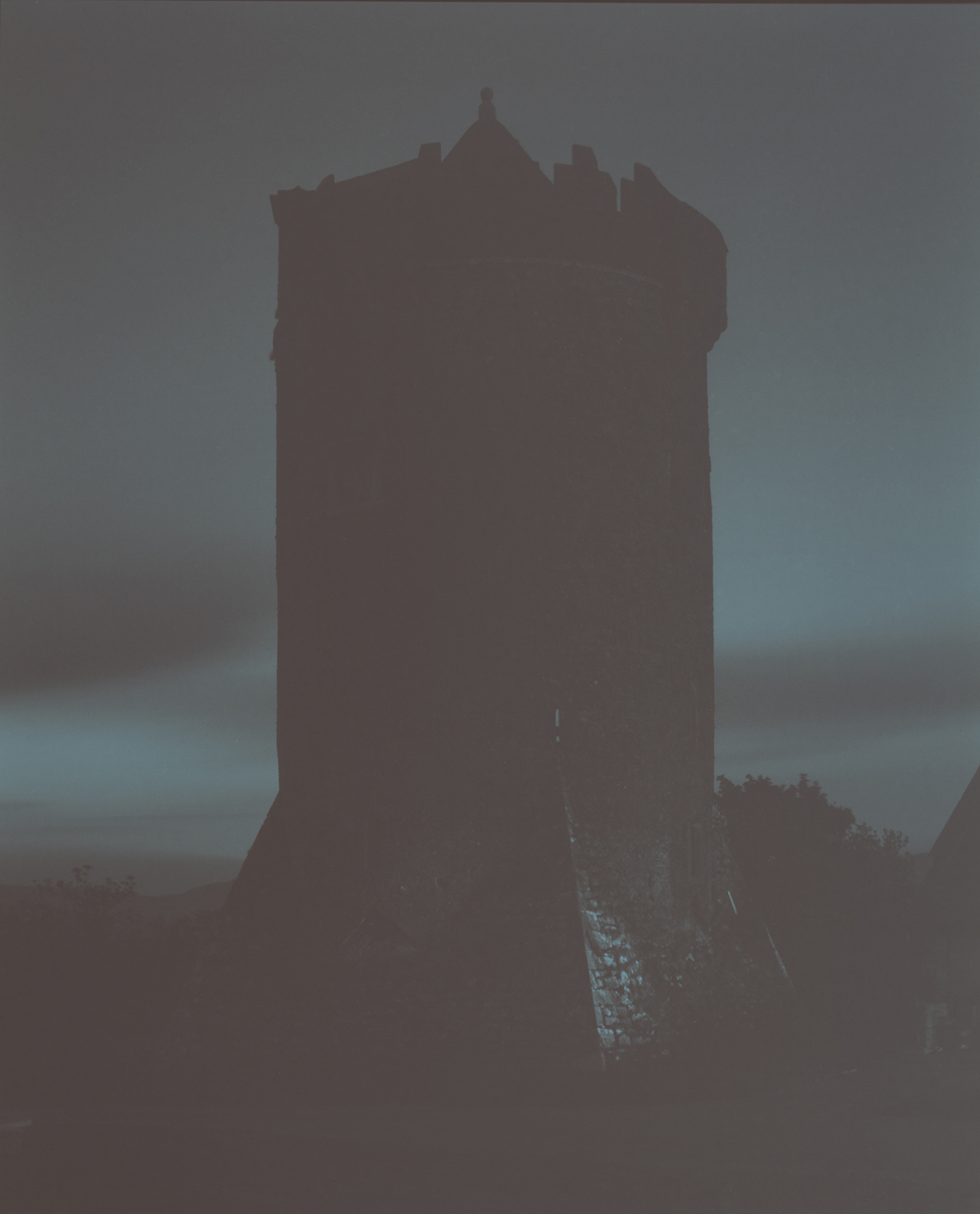 16th century tower at night, my Ireland, 2012 8 x 10 Disappearing Photograph on Gelatin Silver Paper, First exposure