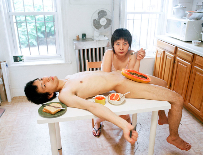 Start your day with a good breakfast together, c-print, 2009