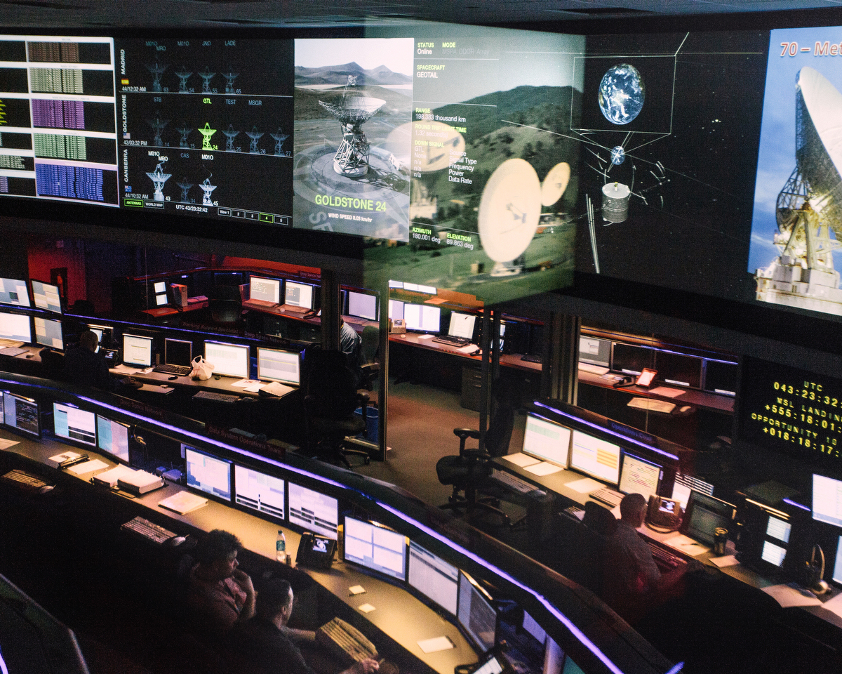 Jet Propollsion Lab, Deep Space Control Room, Pasadena, CA, USA
