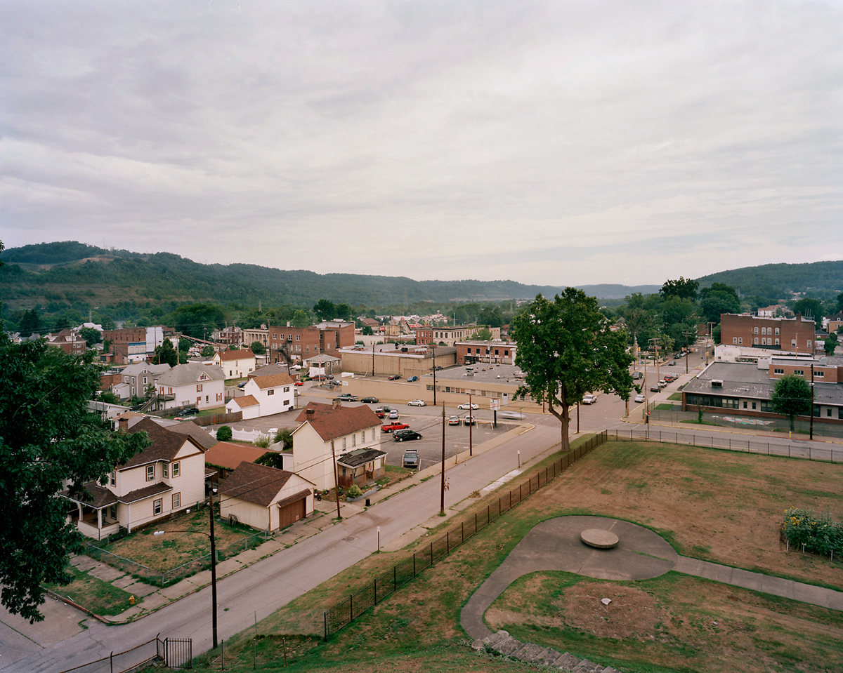 View from the Top, Grave Creek Mound, Moundsville, WV