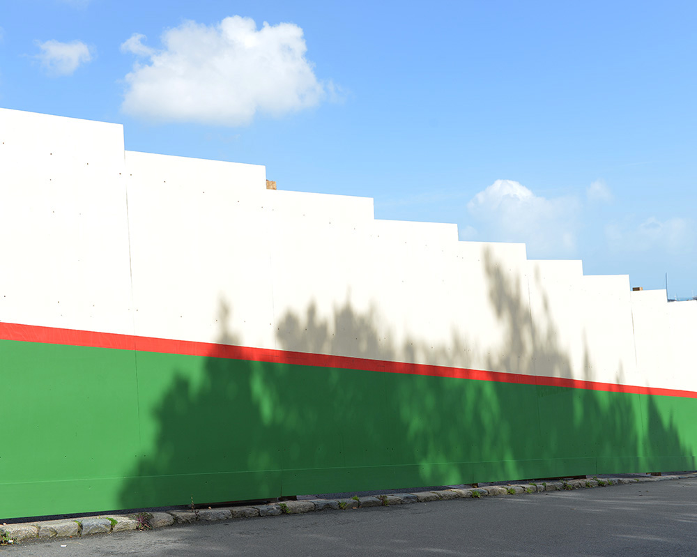 R.G Falla construction wall, St Peter Port, Guernsey