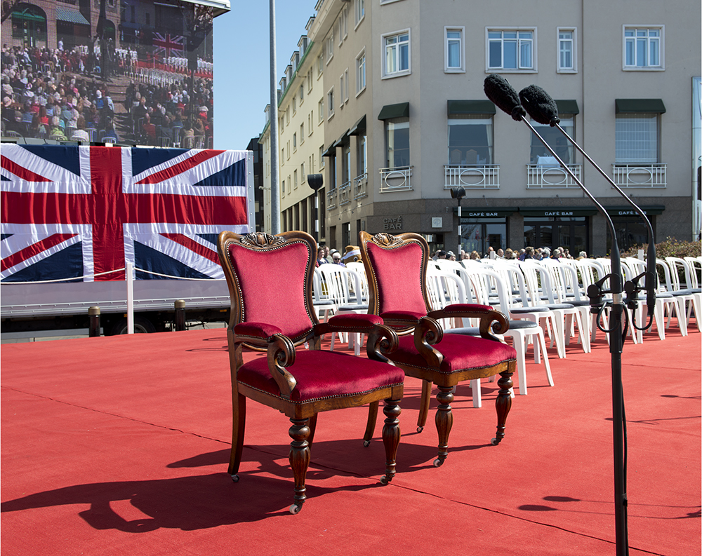 Dais, Liberation Square, St Helier, Liberation Day