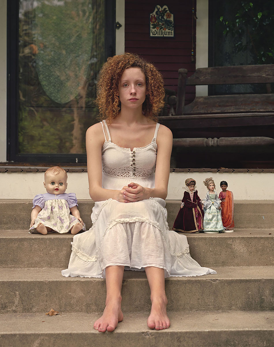 Emily with dolls