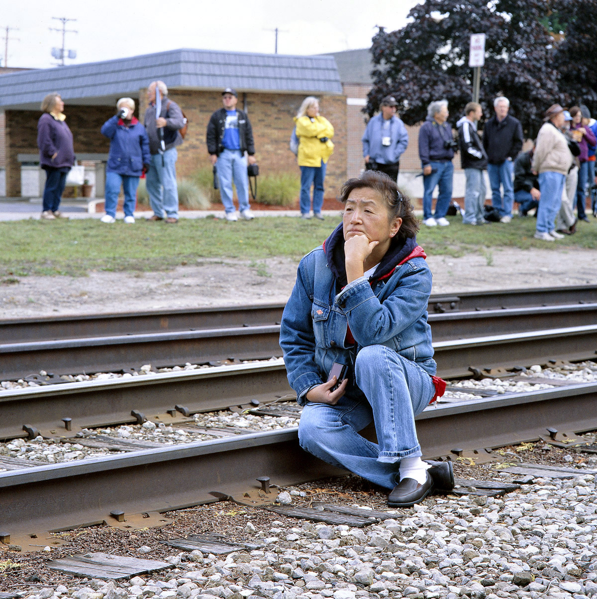 John_Sanderson_13_Waiting for a train, Michigan(2009)