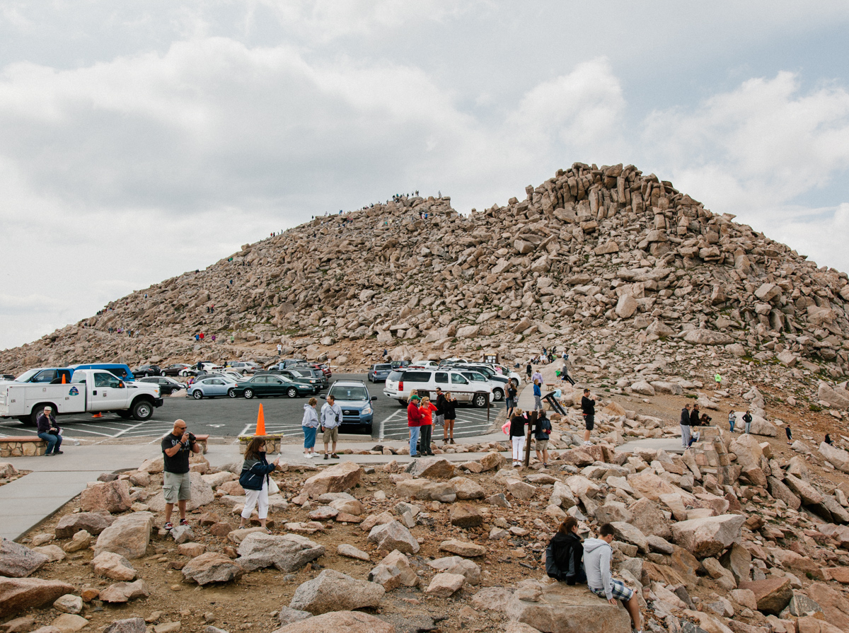 Mt. Evans Parking Lot at Fourteen Thousand Feet