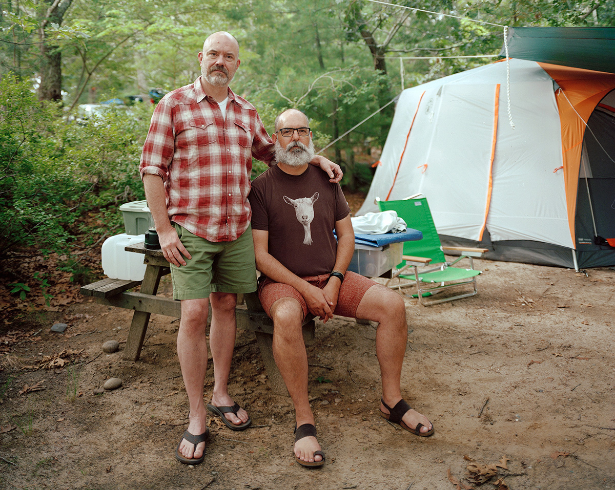 Gunner and Charles - Dunes' Edge Campgrounds (Provincetown, MA), 2013