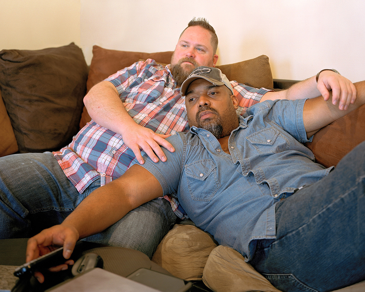 John and Mike - Watching TV (Rensselaer, NY), 2014