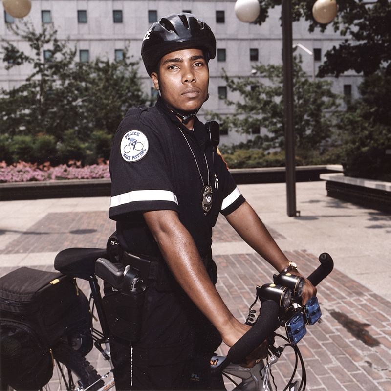 Officer Audrey Jenkins with 9mm Smith & Wesson, model 5903, Georgia State University, Atlanta, Georgia, 1997.