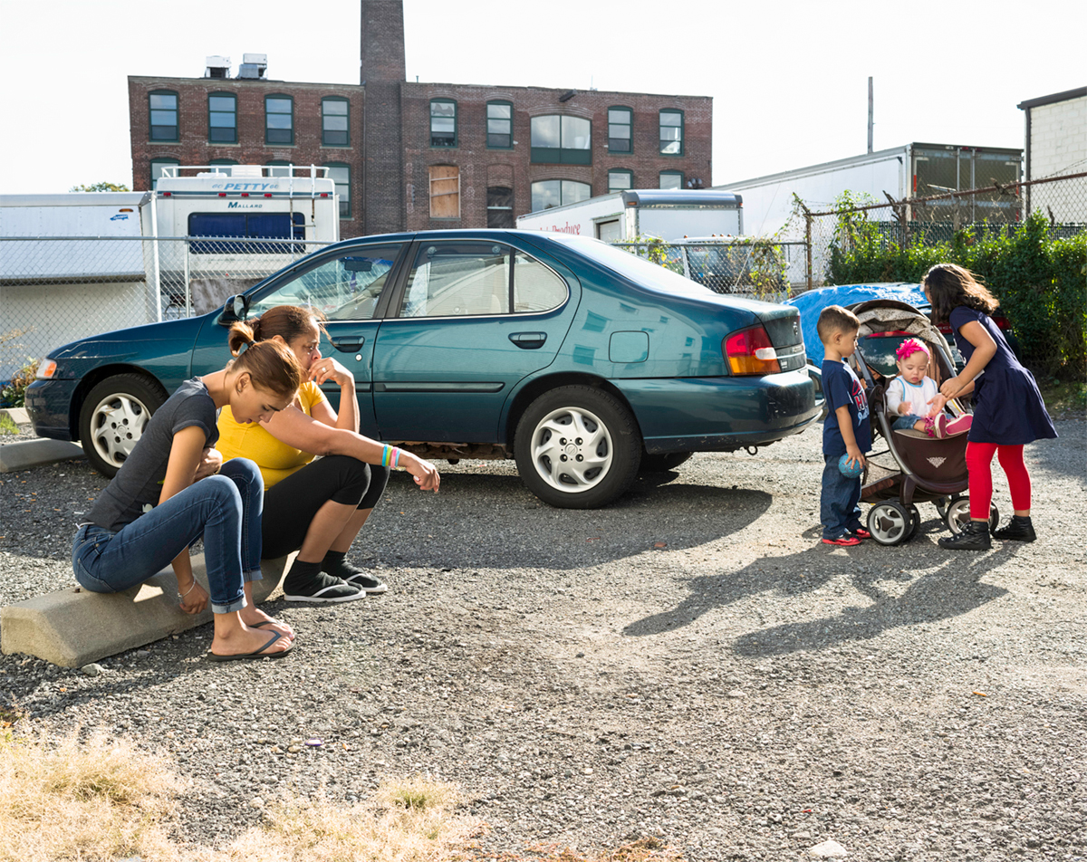 """Cindy and her niece in the parking lot,"" 2014"