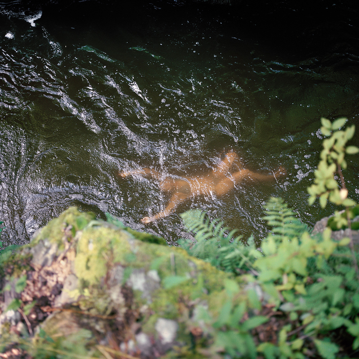 Vanessa at a swimming hole in Wassaic.