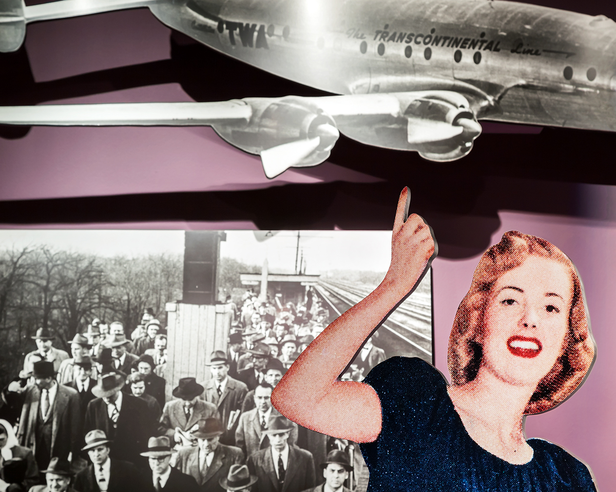 """Up"", Archival Pigment Print, 22x27"" and 28x34"", 2011. Detail of museum display narrating the American postwar boom, Harry S. Truman Presidential Museum (Independence, MO)."