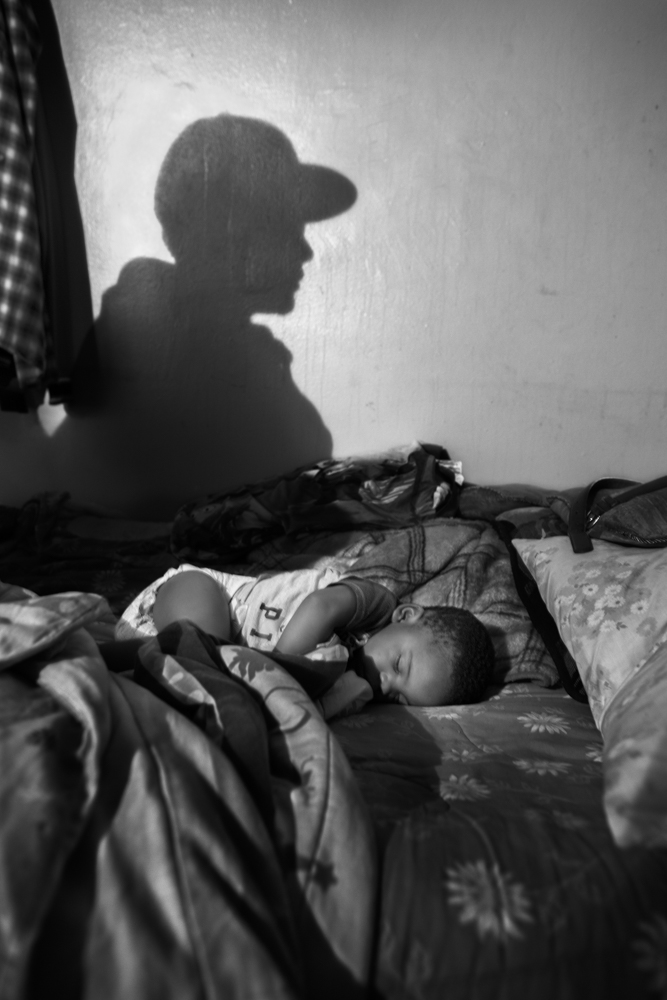 "Karens baby, Kirell, sleeps at his home in the Bushwick projects, place that he shares with his uncle ""Smokey"" he rules this neighborhood for the Latin King Nation and wants Kirell to be part of the gang when he grows up."