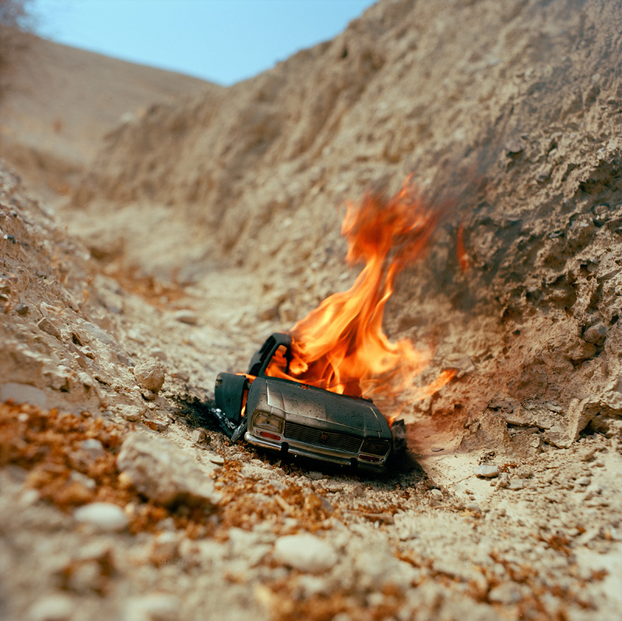 burning car 001