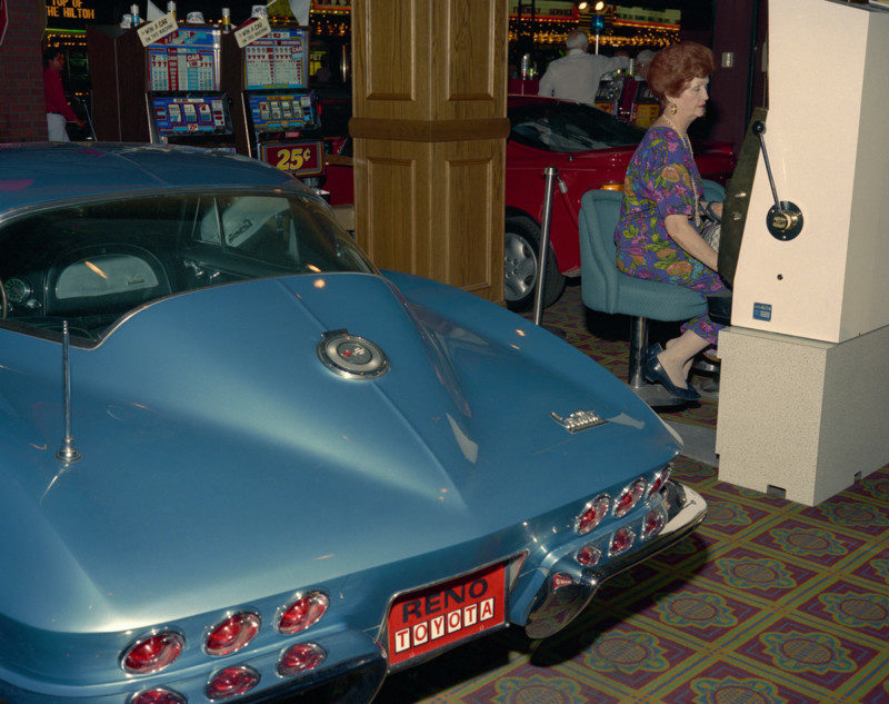 Corvette, Woman, Casino, Reno, 1991
