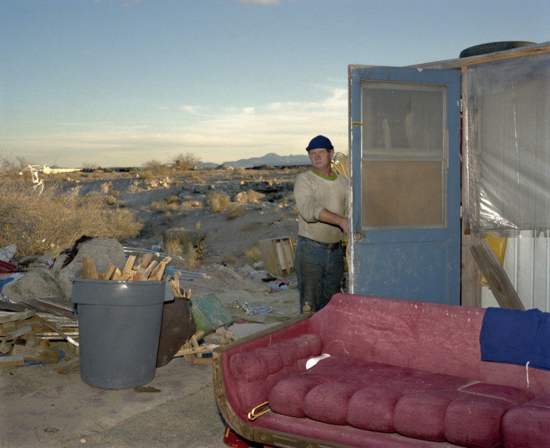 Desert Man, Red Couch, Las Vegas, 1988