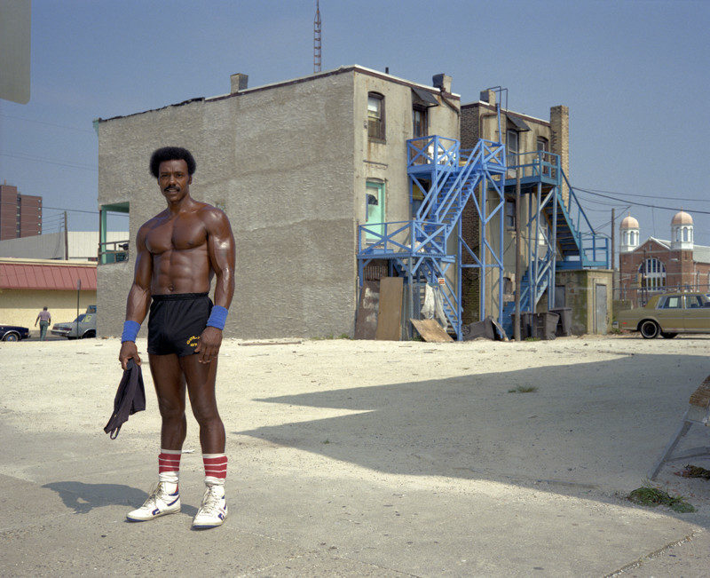 Shirtless Man, Atlantic City, 1989
